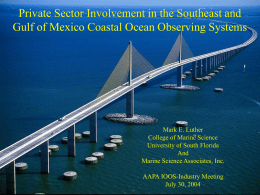 Private Sector Involvement in the Southeast and