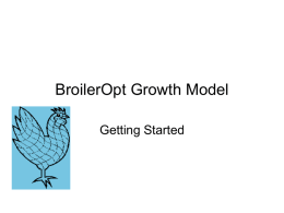 BroilerOpt Growth Model Getting Started