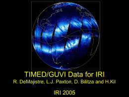 TIMED/GUVI Data for IRI IRI 2005