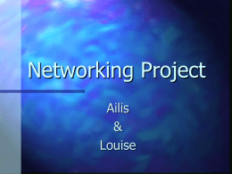 Networking Project Ailis & Louise