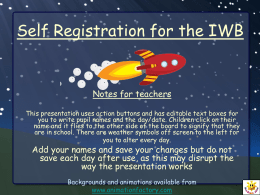 Self Registration for the IWB Notes for teachers