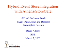 Hybrid Event Store Integration with Athena/StoreGate ATLAS Software Week