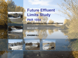 Future Effluent Limits Study PAR 1054 Metro Wastewater Reclamation District