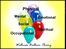 Physical Wellness Balloon Theory Mental Emotional