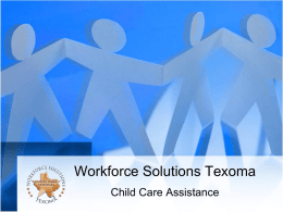 Workforce Solutions Texoma Child Care Assistance