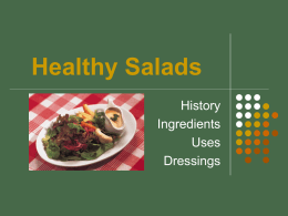 Healthy Salads History Ingredients Uses