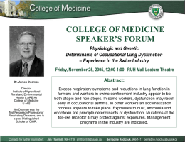 COLLEGE OF MEDICINE SPEAKER'S FORUM