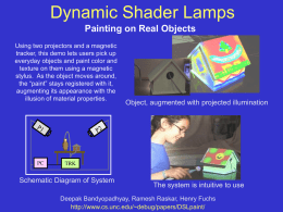 Dynamic Shader Lamps Painting on Real Objects