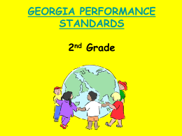 GEORGIA PERFORMANCE STANDARDS 2 Grade
