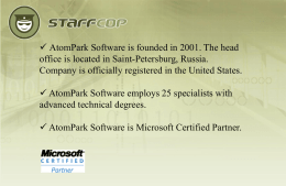 AtomPark Software is founded in 2001. The head