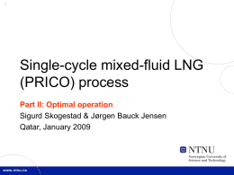 Single-cycle mixed-fluid LNG (PRICO) process Part II: Optimal operation