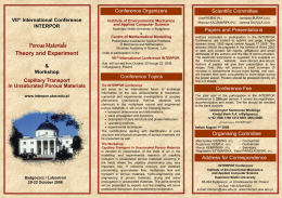 Porous Materials VII International Conference INTERPOR