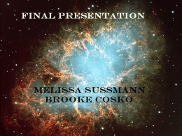Final Presentation By: Melissa Sussmann and Brooke Cosko