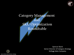 Category Management and SKU Optimization Roundtable