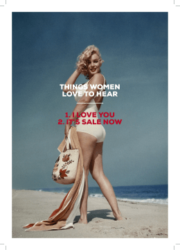things women love to hear 1. i love you 2. it`s sale