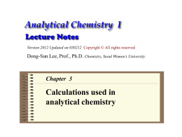 Calculations used in analytical chemistry 03