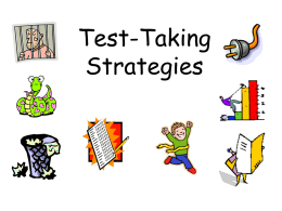 Test Taking Strategies 2