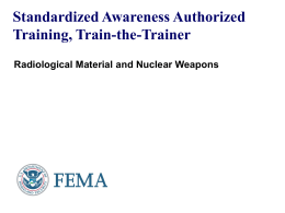 Radiological Material and Nuclear Weapons