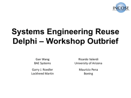 COSYSMO Reuse Framework Delphi Outbrief