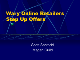 Wary Online Retailers.ppt