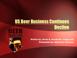 Current Event - Beer Sales.ppt