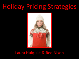 Holiday Pricing Strategies.ppt