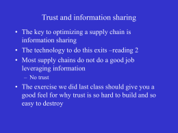 Trust and information sharing students 2006.ppt
