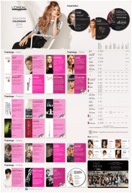 education calendar - l`oréal professionnel educatie