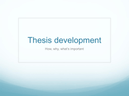 Thesis Development powerpoint