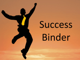 Success Binder Powerpoint (How to)
