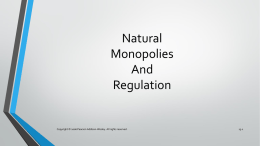Regulation of Natural Monopolies