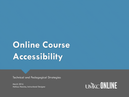 Online Course Accessibility PowerPoint