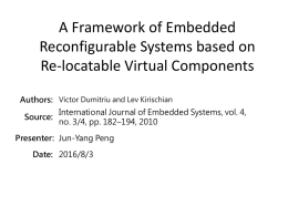 A Framework of Embedded Reconfigurable Systems based on Re-locatable Virtual Components.pptx