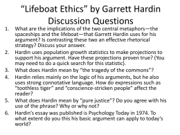 Lifeboat Ethics Discussion Questions