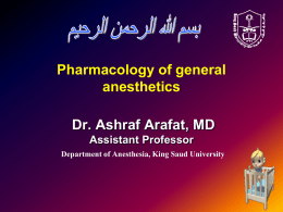 8- Pharmacology of an 3-1-2016.ppt