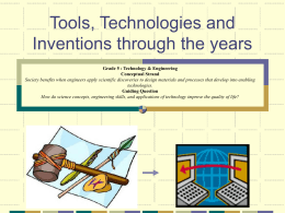 Tools,TechnologiesInventions.ppt