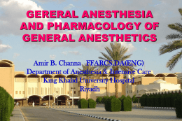 3-CHANNA general anesthetics 441 lecture2011.ppt