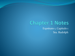 Chapter 1 Notes for Entire Chapter
