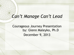 Can t manage Can t lead