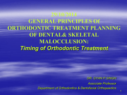 General Principles of Orthodontic [PPT]
