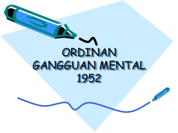 ordinan gangguan mental 1952