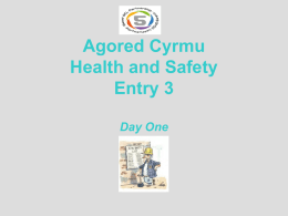 Agored Cymru Health and Safety Level 3 Day 1 and 2.ppt