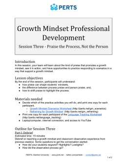 Growth Mindset PD Session 3