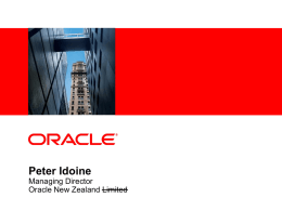 Oracle Corporate Overview - NZOUG March 2010 Rotorua.ppt