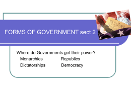 forms of government sect 2