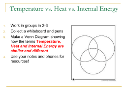 Notes - Intro to Thermodynamics Presentation