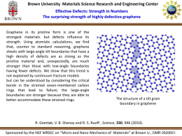 Brown University MRSEC 0520651 Vivek Shenoy Graphene.ppt