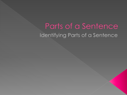 Parts of Sentence 8 Steps 9th.pptx