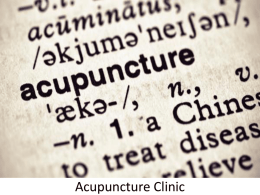 Accupuncture Clinic in UAE