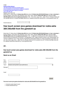 free touch screen java games for nokia asha 309